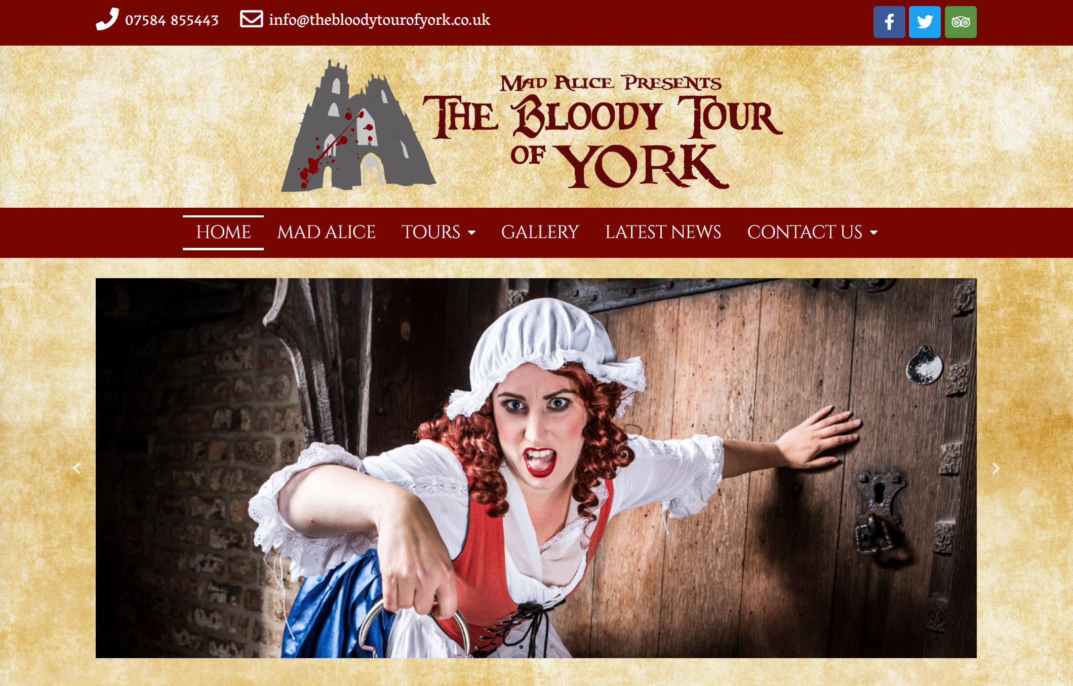 Website Launch – The Bloody Tour of York