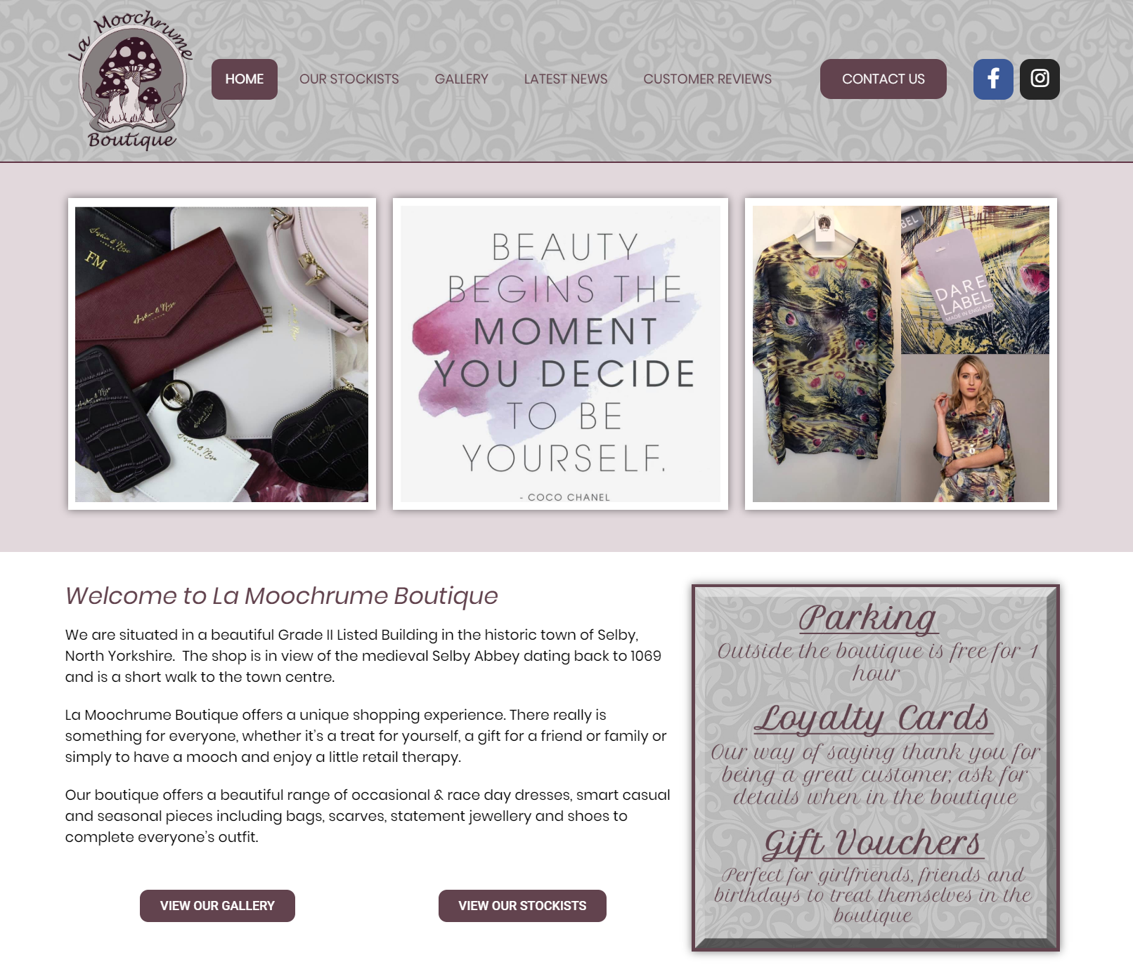 New Website Launch – La Moochrume Boutique