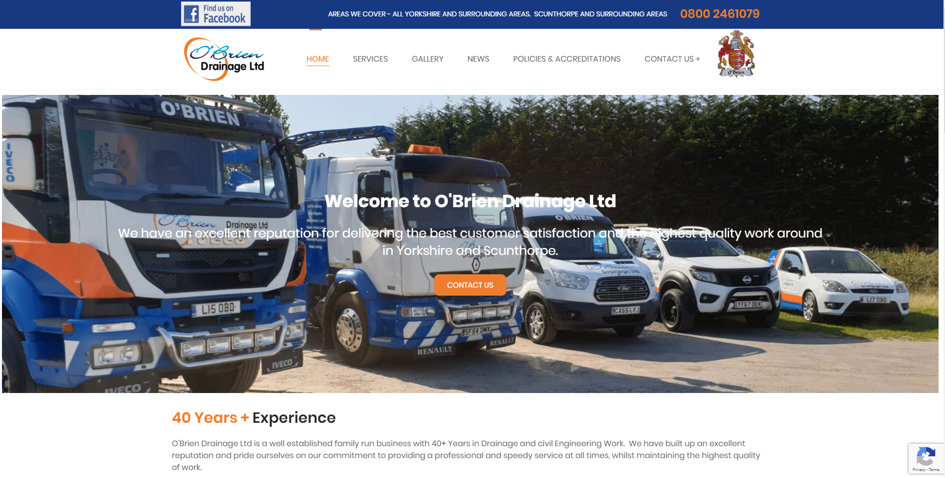 New Website Launch – O'Brien Drainage