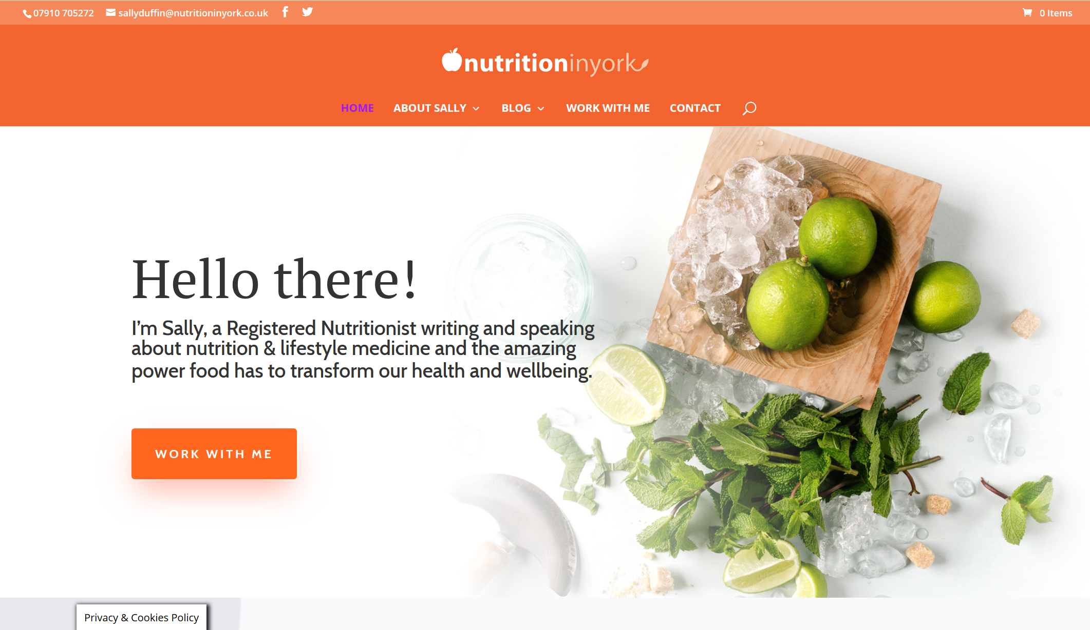 Website Refresh – www.nutritioninyork.co.uk
