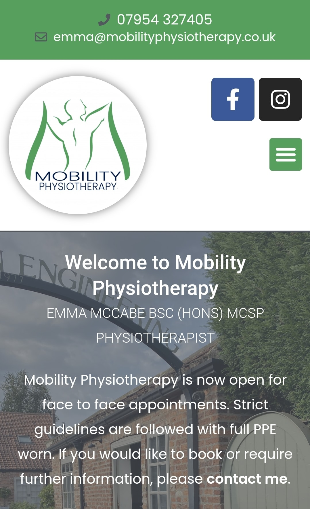 """Read more about the article Website & Logo Refresh """"Mobility Physiotherapy"""""""